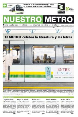 El METRO celebra la literatura y las letras