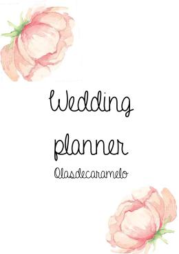 AGENDA wedding planner olasdecaramelo A4