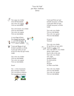 """""""Vivir Mi Vida"""" por Marc Anthony (letra)"""