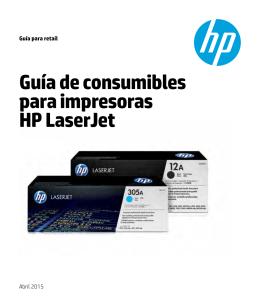 Guía de consumibles para impresoras HP LaserJet