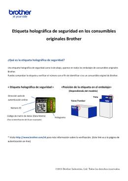 Etiqueta holográfica de seguridad en los consumibles originales