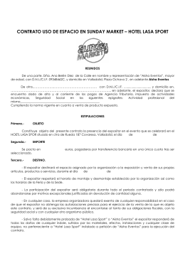 contrato uso de espacio en sunday market – hotel lasa sport