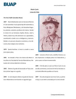 Marie Curie Línea de Vida - Instituto de Ciencias BUAP