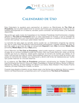 Calendario PDF - The Club Grupo Presidente