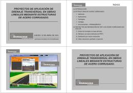 proyectos de aplicación de drenaje transversal en obras lineales