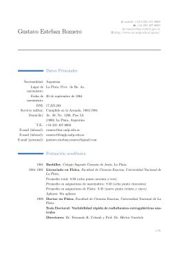 CV - Facultad de Ciencias Astronómicas y Geofísicas