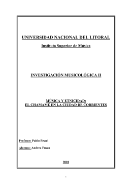 Instituto Superior de Música - INVESTIGACIÓN MUSICOLÓGICA II