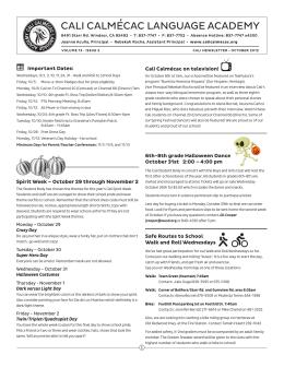 Octubre de boletin 2012 - Cali Calmecac Language Academy