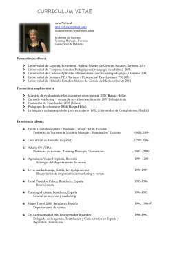 CV Anu Nylund español