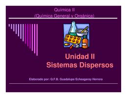 Unidad II Sistemas Dispersos