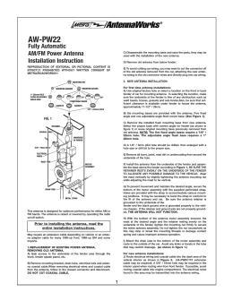 AW-PW22 - Metra Electronics