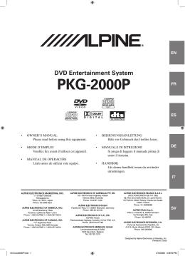 PKG-2000P - Alpine Europe