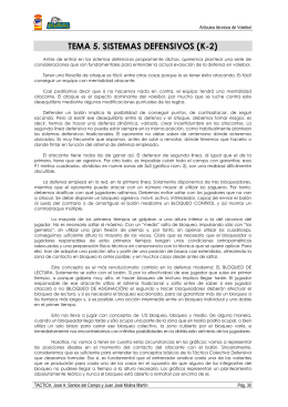 TEMA 5. SISTEMAS DEFENSIVOS (K-2)