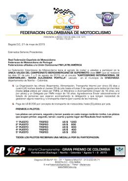 FEDERACION COLOMBIANA DE MOTOCICLISMO