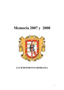 Memoria de 2007 - Club Deportivo Herbania