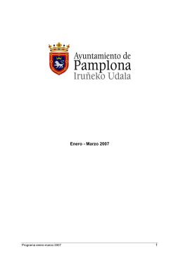 Enero - Marzo 2007 - Ayuntamiento de Pamplona