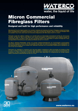 ZZB1446 Commercial Filter Brochure