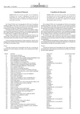 Resolució 2011 - Ajuntament de Silla