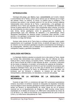 Apuntes de Geologia (Nicaragua) - Máster Sergio J. Navarro Hudiel