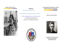 Marie Curie - Universidad de Puerto Rico en Arecibo