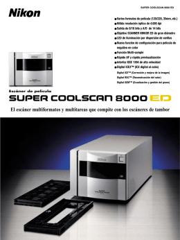 Características escáner LS 8000 ED