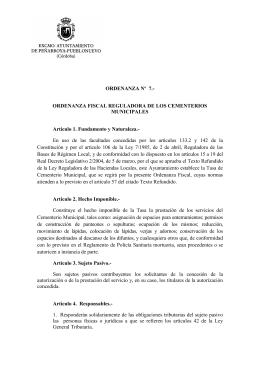 Ordenanza 7 CEMENTERIOS - Peñarroya