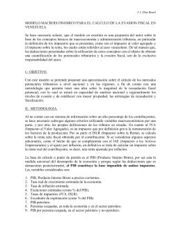 MODELO MACROECONOMICO PARA EL CALCULO