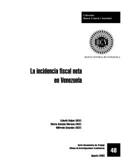 La incidencia fiscal neta en Venezuela