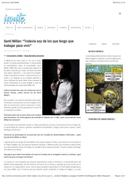 Entrevista a Santi Millán