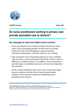 Do nurse practitioners working in primary care provide