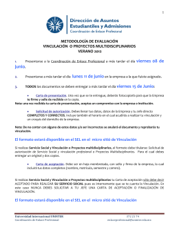 metodología de evaluación de vinculación laboral - SEL