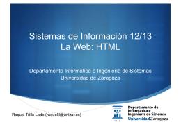 HTML - Universidad de Zaragoza