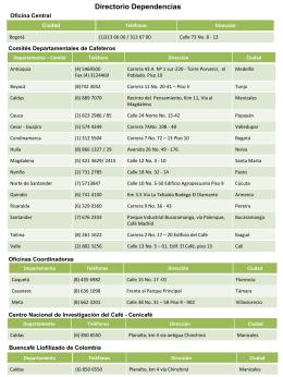 Directorio Comités - Federación Nacional de cafeteros