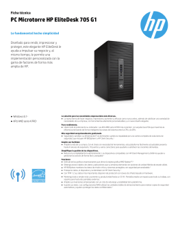 PC Microtorre HP EliteDesk 705 G1