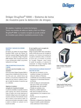 Dräger DrugTest® 5000 – Sistema de toma de muestra para la