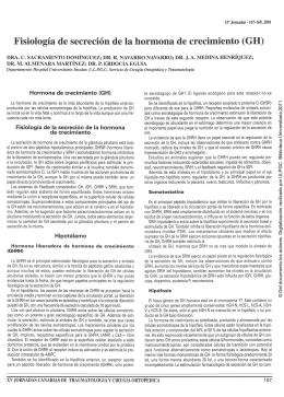 Fisiología de secreción de la hormona de crecimiento (GH)
