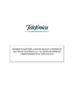 INFORME DE AUDITORÍA, CUENTAS ANUALES E