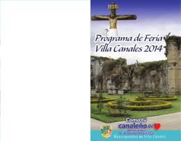 Programa General Feria de Villa Canales 2014