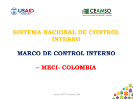 SISTEMA NACIONAL DE CONTROL INTERNO MARCO
