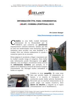 info.util.para AHLiST.COIMBRA.2015