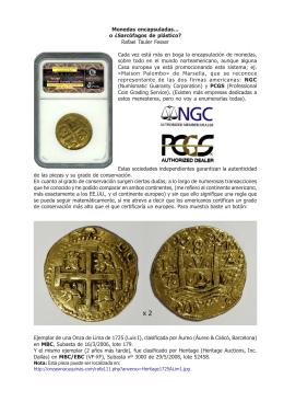 Monedas encapsuladas…