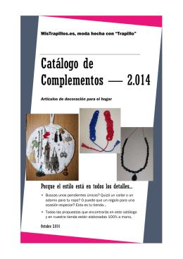 Catálogo de Complementos — 2.014