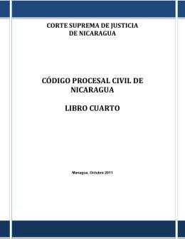 código procesal civil de nicaragua libro cuarto