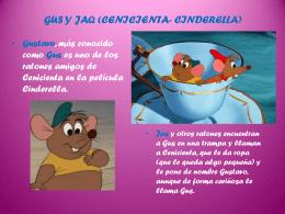 gus y jaq (cenicienta- cinderella)