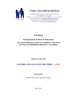 CENTRO ANN SULLIVAN DEL PERU – CASP