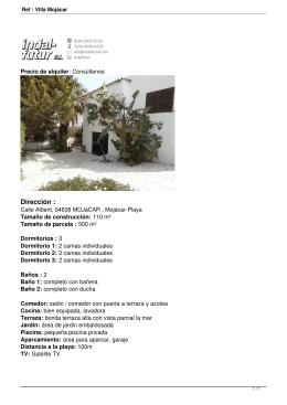 Ref : Villa Mojácar