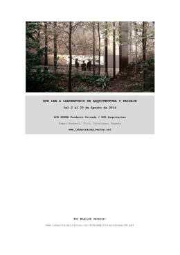 Programa RCR LAB·A 2014