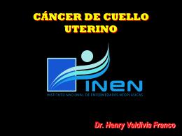 cáncer de cuello uterino - Instituto Nacional de Enfermedades