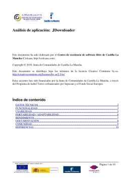 Análisis de aplicación: JDownloader