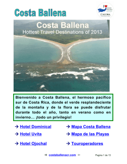→ Hotel Dominical → M apa Costa Ballena